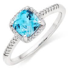 engagement rings topaz images 9ct white gold blue topaz diamond halo ring 0012194