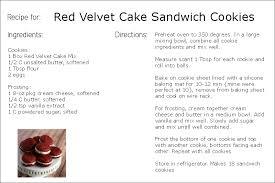 cake directions semi velvet cake sandwich cookies i my