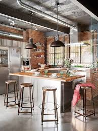 Commercial Kitchen Designs Kitchen Decorating Industrial Style Homes Industrial Themed