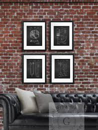home interiors and gifts framed art amazon com vintage drum posters set of 4 unframed patent art