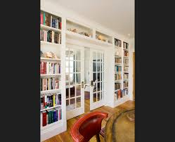 Bookshelves Glass Doors by Built In Bookcases With French Doors Home Is Pinterest