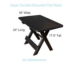 Folding Side Table Recycled Poly Resin Folding Side Table
