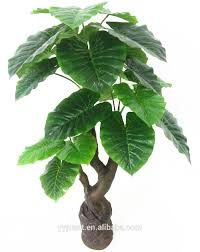 indoor large artificial alocasia odora tree for home decoration