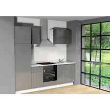 coloris cuisine cuisine équipée l255 cm coloris gris pas cher à prix auchan