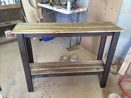 diy entryway table plans recycled pallet sofa table and entry table pallet projects
