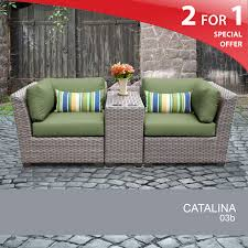 Grey Wicker Patio Furniture by Grey Wicker Armchair Set 3 Piece Outdoor Wicker Furniture