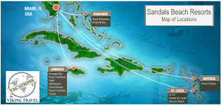 Antigua Map Sandals Resorts Locations