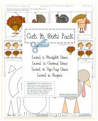 free cutting practice pack thanksgiving cut it out