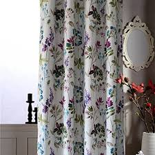 Blue Floral Curtains Colourful Floral Curtains Living Room Drapes Anady