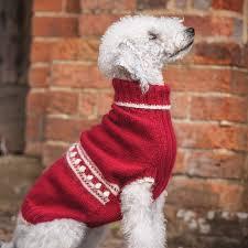 cracking christmas dog jumper knitting kit redhound for dogs