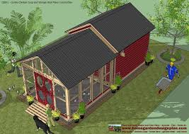Yard Sheds Plans by Home Garden Plans Cb201 Combo Plans Chicken Coop Plans