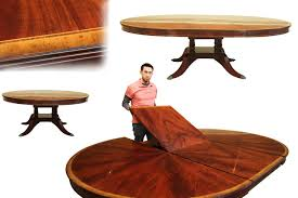 custom round dining tables custom 72 inch round dining table with self storing leaf