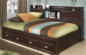 bedroom amazing full platform bed with storage drawer u0026 bookcase