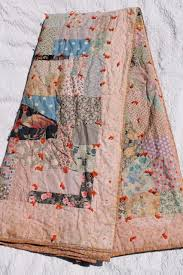 Patchwork Comforter Shabby Vintage Patchwork Quilt Hand Tied Comforter W Colorful