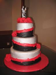 Red And Silver Wedding Red Black Silver Wedding Cake Wedding Cake Cake Ideas By