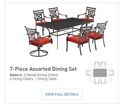 Patio Table 6 Chairs Shop The Kingsmead Patio Collection On Lowes Com