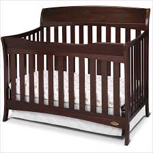 Delta Convertible Crib Bed Rail Contvertible Cribs Acrylic Glam Black Solid Headboard Toddler