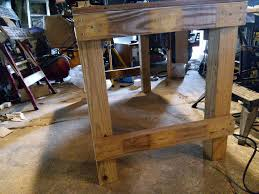 the very rigid 45 eight foot workbench 6 steps with pictures