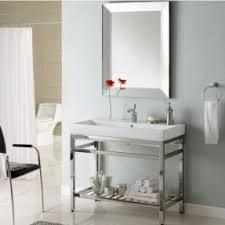 Sink Shelves Bathroom Metal Console Sink Foter