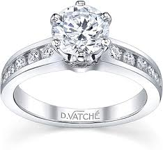 engagement rings diamond vatche channel set six prong diamond engagement ring 1020