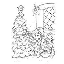 20 free printable christmas tree coloring pages