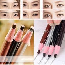 light grey eyebrow pencil 12pcs set makeup cosmetic eye liner eyebrow pencil brush tool light