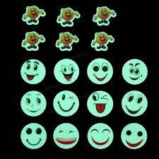 luminous cartoon smiling face decals wall ceiling glow in the dark luminous cartoon smiling face decals wall ceiling glow in the dark smile face home bedroom decor
