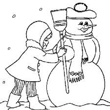 free winter coloring pages making a snowman winter coloring