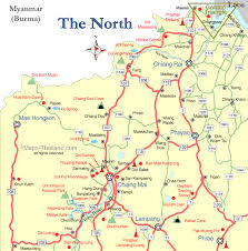 northern map northern travel map