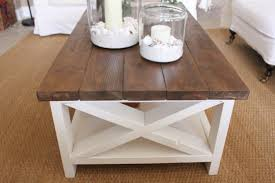 furniture benchwright coffee table pottery barn rustic wood