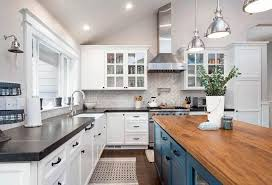 kitchen with white cabinets and wood countertops soapstone countertops ultimate guide designing idea
