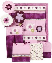 bedroom adorable purple floral crib bedding set the