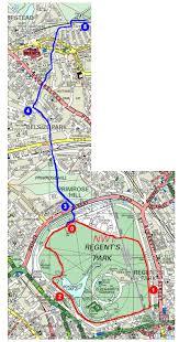 Map Running Route by Serpentine Running Club Running Regents Park
