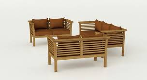 Seater Solid Teak Wood Sofa Set In Natural Teak Finish - Teak wood sofa sets