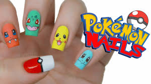 pokémon nail art youtube