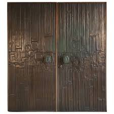 Brualist by Rare Pair Of Bonded Bronze Doors By Forms And Surfaces Brutalist