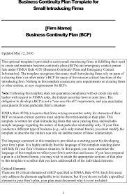 business continuity plan template download free u0026 premium