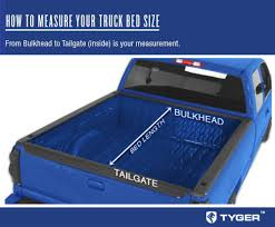 nissan titan king cab bed length tyger tri fold pickup tonneau cover fits 04 15 nissan titan with