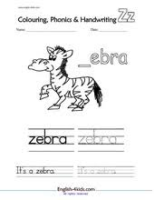 english for kids esl kids phonics cards phonics worksheets x to z