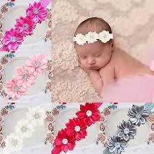 flower hair bands uk newborn baby flower headband infant toddler hair
