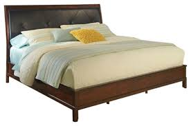 denver bed transitional platform beds by myco furniture