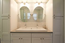 romantic bathroom vanity sets with trough sink and two faucets