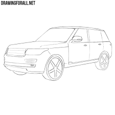 range rover evoque drawing how to draw a range rover drawingforall net
