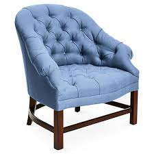 Blue Velvet Wingback Chair Accent Chairs Living Room Furniture One Kings Lane