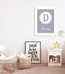Personalised Baby Nursery Decor Lilac Grey Personalised Name Neutral Nursery Decor Paperpaintpixels