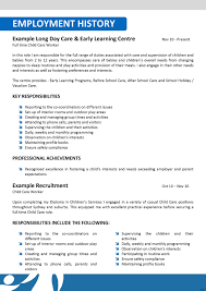 Sle Resume Of Child Caregiver Magnificent Day Care Manager Resume Eye Catching Child