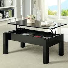 coffee table with sliding top storage traditional rectangularblack