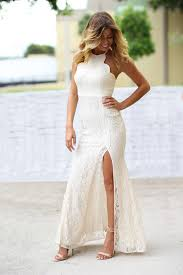 beige dresses for wedding beige lace maxi dress with side slit dresses saved by the