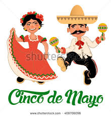 cartoon cinco de mayo mexico dancers cinco de mayo festival stock vector 408706096
