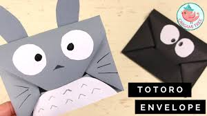 how to make an origami envelope tutorial easy diy totoro origami